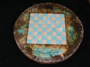Shatranj. Chess board barrel top. tapa de barril. Summer /  verano 2014